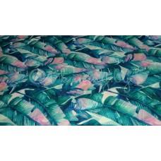 Шифон Банановые листья (Крупный рисунок)