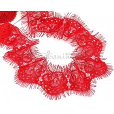 Кружево реснички красный (шир 50-55мм)