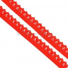 Резинка Ажурная красная 12мм