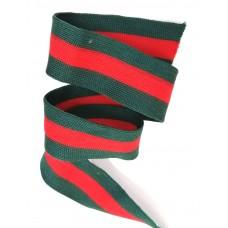 Лампас Темно-зеленый с красной полосой