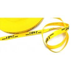 Киперная лента love на желтом