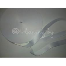 Лента сатиновая белая 2 см