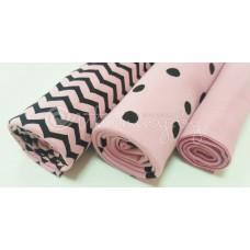 Интерлок Зигзаг на розовом продажа от 1м