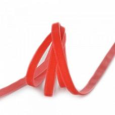 Лента бархатная красная 6мм