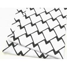 Кулирка Геометрия черно-белая
