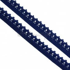 Резинка Ажурная синяя 12мм