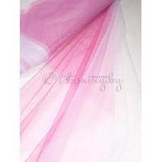 Еврофатин Деграде от белого к розовому по ширине