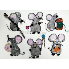 Аппликация из паеток Мышки