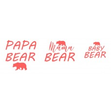 Термонаклейка Мама медведь