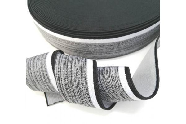 Резинка Серая с черной полоской 35мм