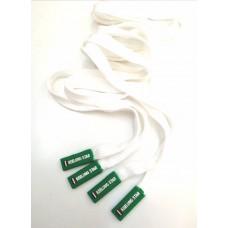 Шнур белый с зеленым наконечником star